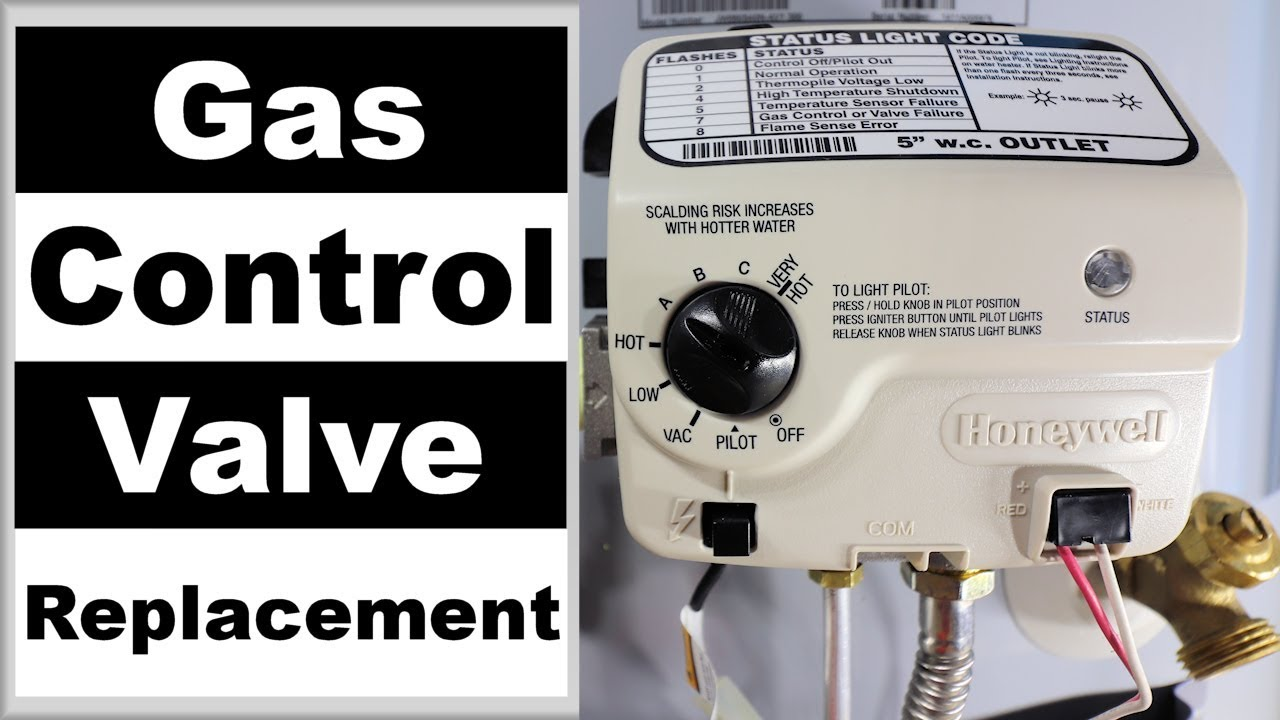 Gas Valve Replacement On A Water Heater You