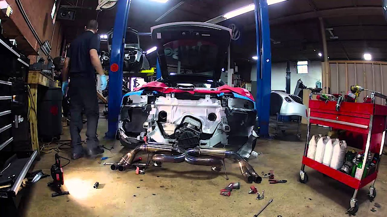 Eurowise Resonated Audi R V Exhaust Installation Timelapse - Audi repair charlotte nc