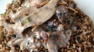 Vegan Christmas Dinner: Mushroom And Tofu Stroganoff