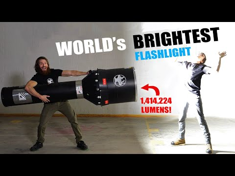 World's BRIGHTEST Flashlight?