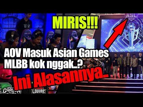 Kabar Terbaru, Alasan Mobile Legends GAGAL MASUK ASIAN GAMES. Kalah Dari AOV
