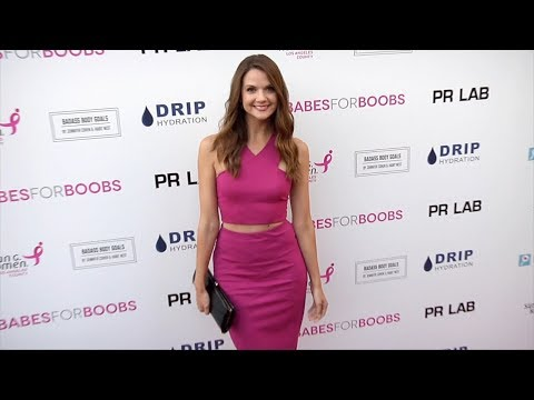 Ashley Gibson 4th Annual #BabesForBoobs Pink Carpet