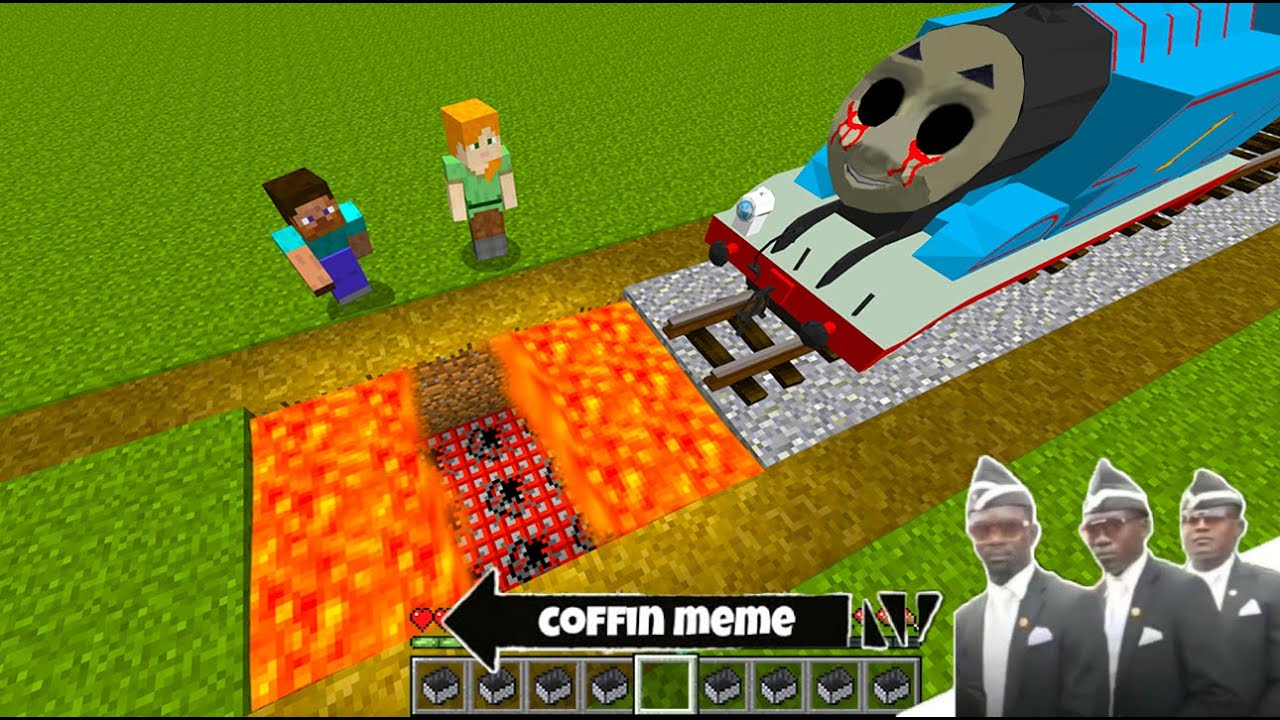 New Traps for THOMAS THE TANK ENGINE.EXE in Minecraft - Coffin Dance