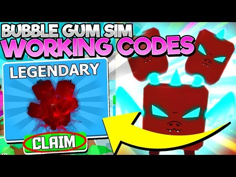 EVERY NEW *WORKING* CODE in BUBBLE GUM SIMULATOR! (Roblox)
