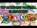 Top 20 Richest Football Clubs in 2017