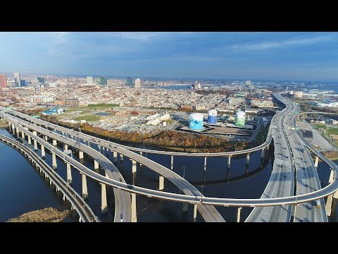 Drone Exploration of South Baltimore, MD (DJI Phantom 4 Pro) [4K]