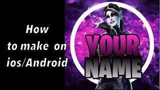how to make a professional fortnite YouTube profile picture on ios