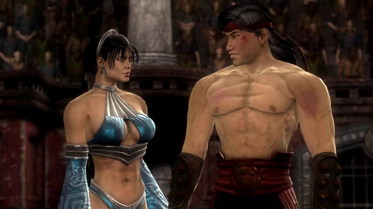 Kombat Mortal And Kang Liu Kitana Kiss