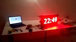 Светодиодные часы и градусник, Электронное табло - РПК