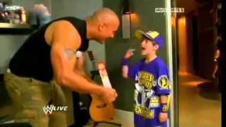 The Rock insults little John Cena and the Miz