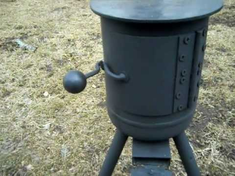 homemade mini potbelly woodstove - Homemade Mini Potbelly Woodstove - YouTube