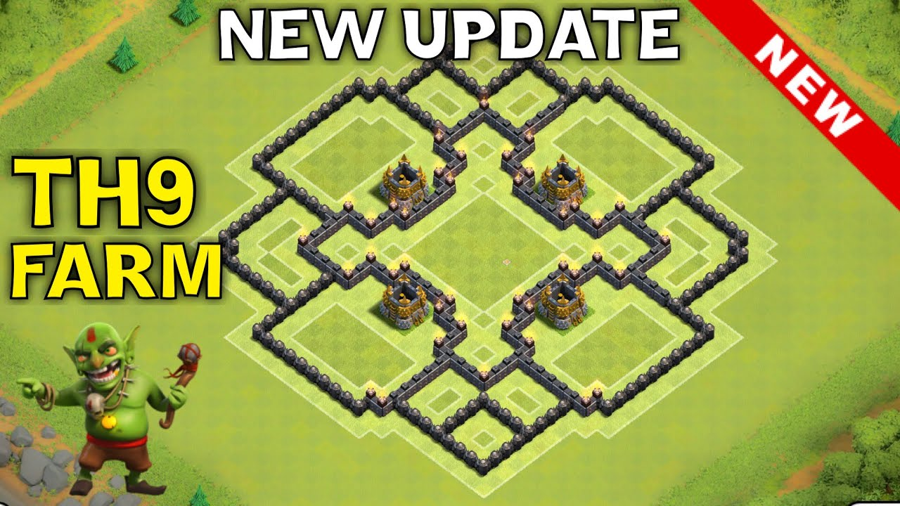 New update th9 farming base town hall 9 new th11 december update