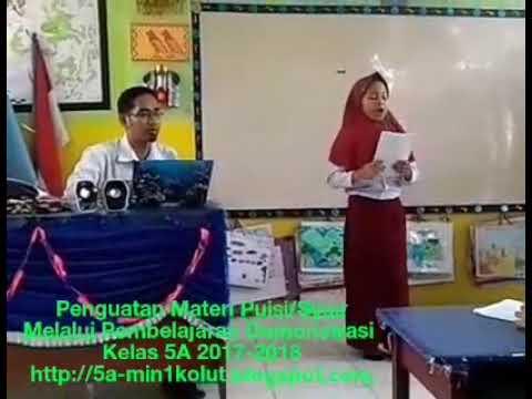 Penguatan Materi Puisi Melalui Metode Demonstrasi 5A Min 1 Kolut