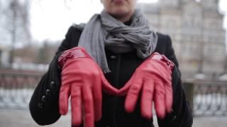 видео перчатки из натуральной кожи