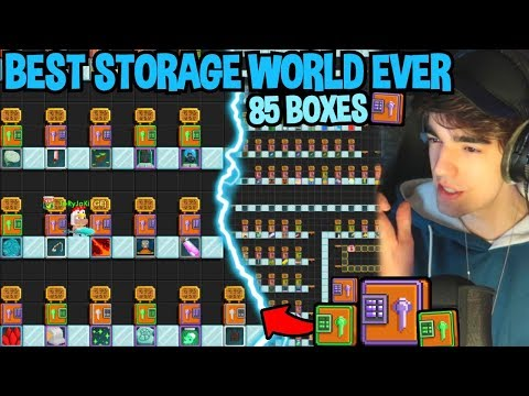 BUILDING THE BIGGEST STORAGE WORLD EVER!! | Growtopia