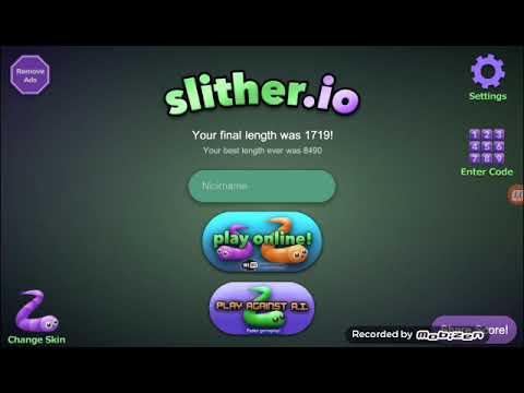 لعبة الافعى slither.io