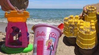 Игрушки Барби на пляже Лето на море Видео для детей