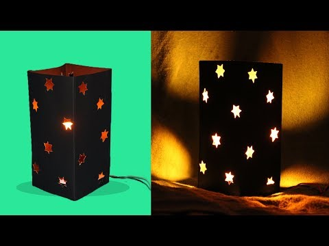 Diwali Paper Light  Lamp - how to make colored paper lamp lantern diwali light -easy way