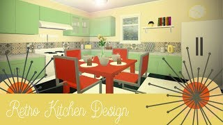 Roblox Bloxburg | Retro Kitchen Design [Speed Build]