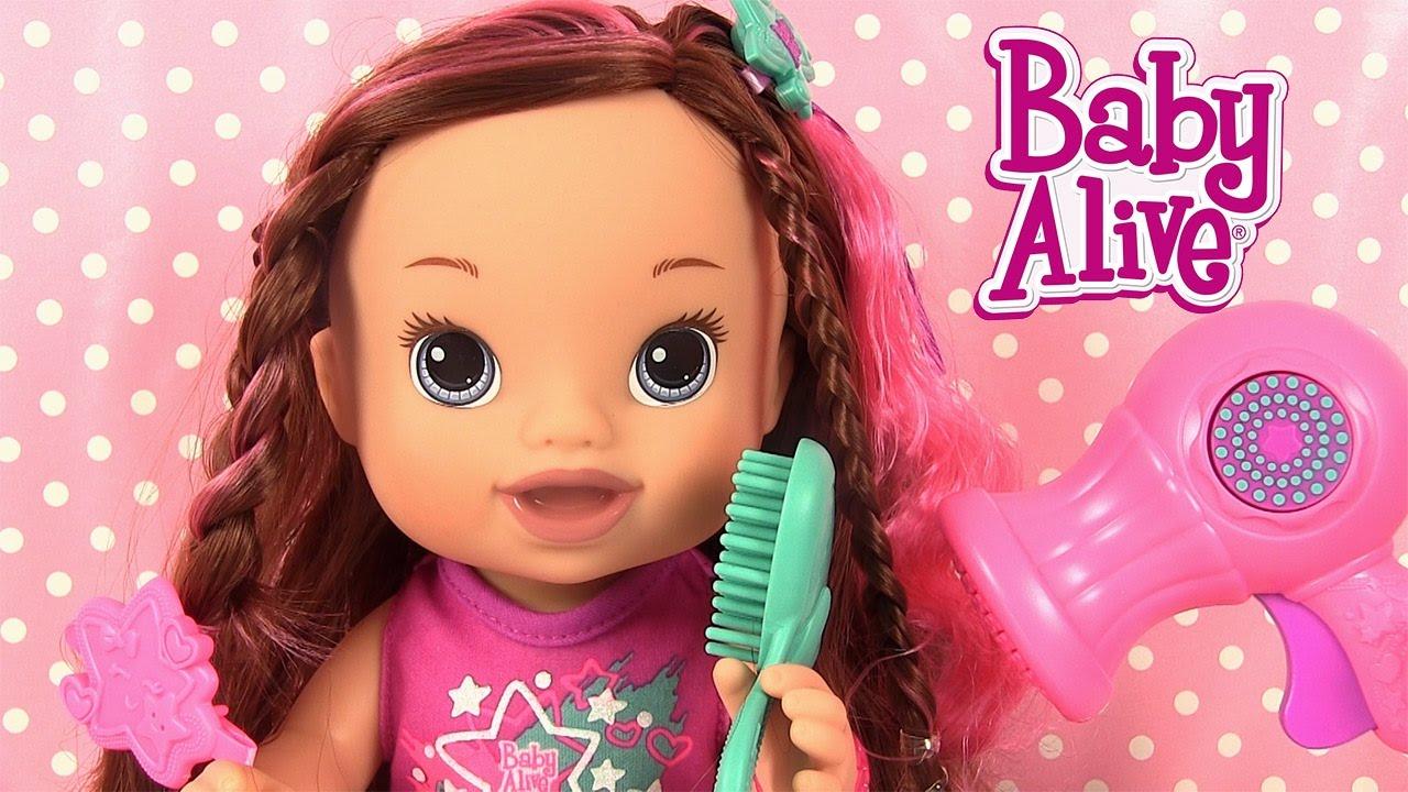 baby alive poup e coiffure avec christina coupe de cheveux