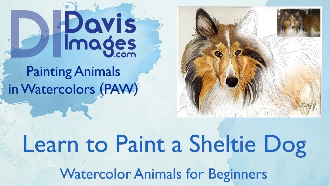 Watercolor Animals for Beginners - Dog painting Lesson part 1