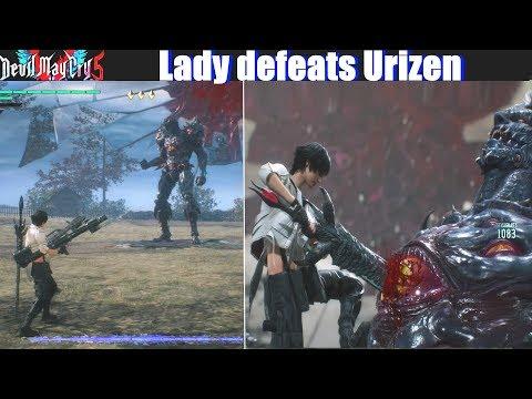DMC 5 Lady Defeats Urizen (Playable Lady Mod) - Devil May Cry 5 2019 thumbnail