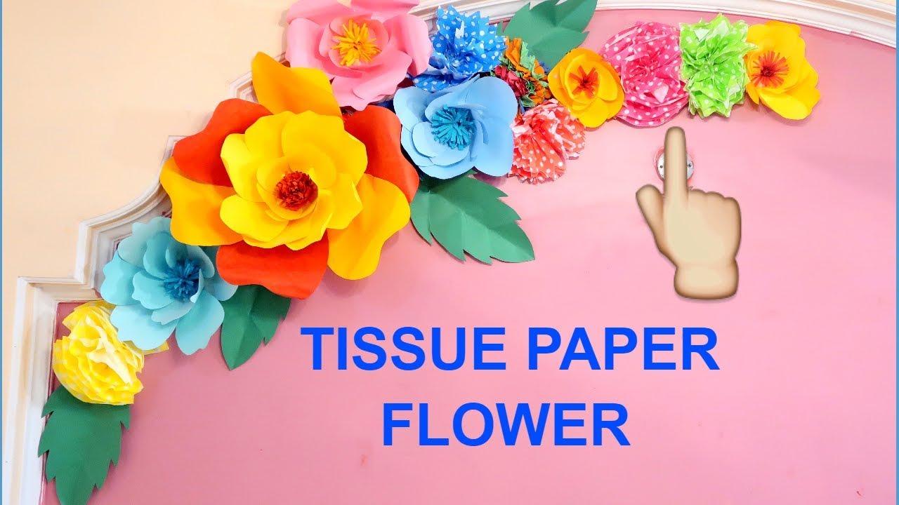 Tissue paper flower decoration ideas flower birthday tissue paper flower decoration ideas flower birthday decoration ideas wall decoration ideas mightylinksfo