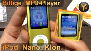 "Billig MP3-Player im Test: ""iPod Nano"" Klon für 13 € / 8GB WMA MP3 Musik Player"