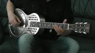 electrified resonator guitar - open c bottleneck slide demo.
