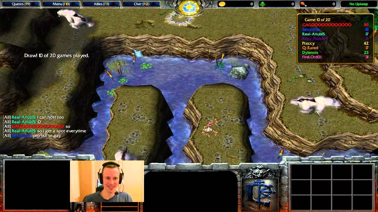 """Download map """"uther party enhanced"""" mini-games 