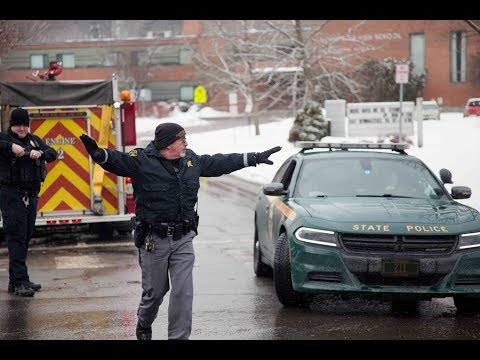 Scenes from the armed standoff at Montpelier High School