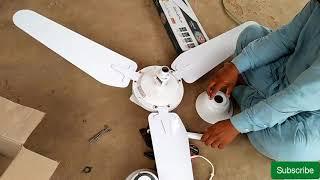 how to install Solar Ceiling Fan! 12 v Solar Dc Ceiling Fan UrduHindi