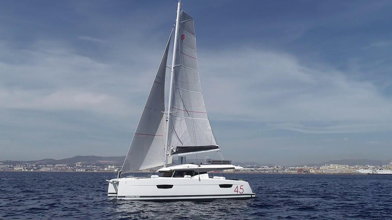New 45 - Fountaine Pajot Sailing Catamarans - Drone Shot
