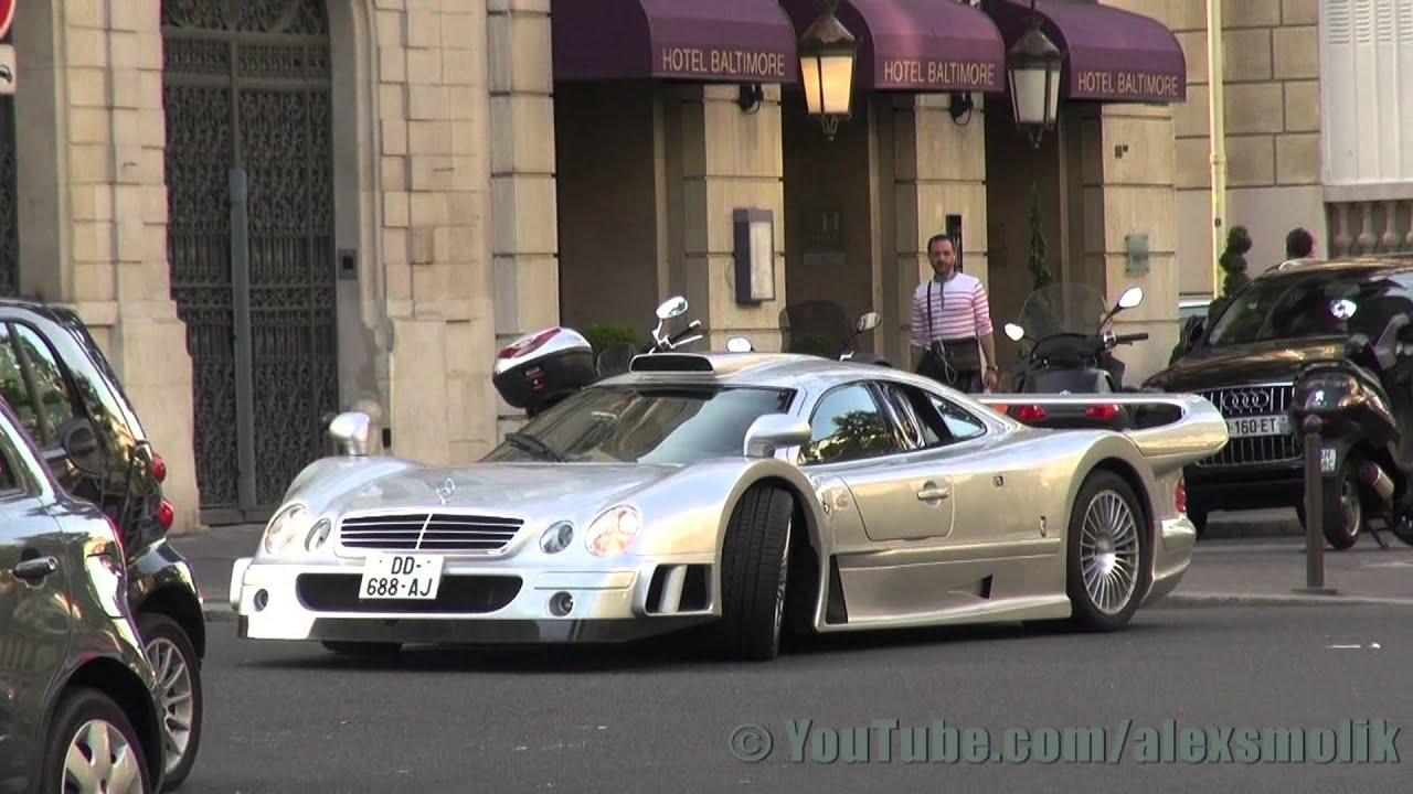 mercedes clk gtr in paris youtube. Black Bedroom Furniture Sets. Home Design Ideas