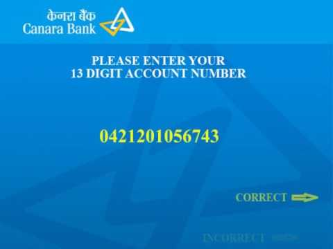 Canara Bank Green PIN Generation Procedure in Hindi