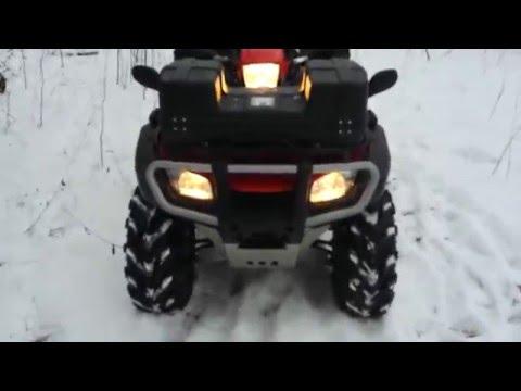 Видеообзор квадроцикла Honda TRX 500 FA и кофр Tamarack