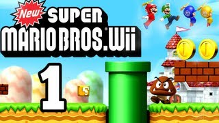 Let's Play New Super Mario Bros. Wii [German/100%] Part 1