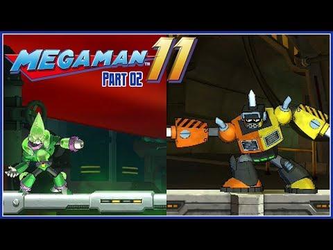 Mega Man 11 Part 2 - Acid Man & Impact Man Stage (Superhero Difficulty) - 동영상
