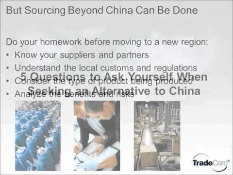 Sourcing in China: what's the alternative?