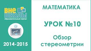 Онлайн-урок подготовки к ЗНО по математике №10