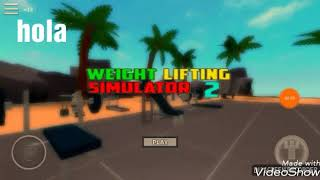 I'm super strong in this game-I go to the gim in Roblox