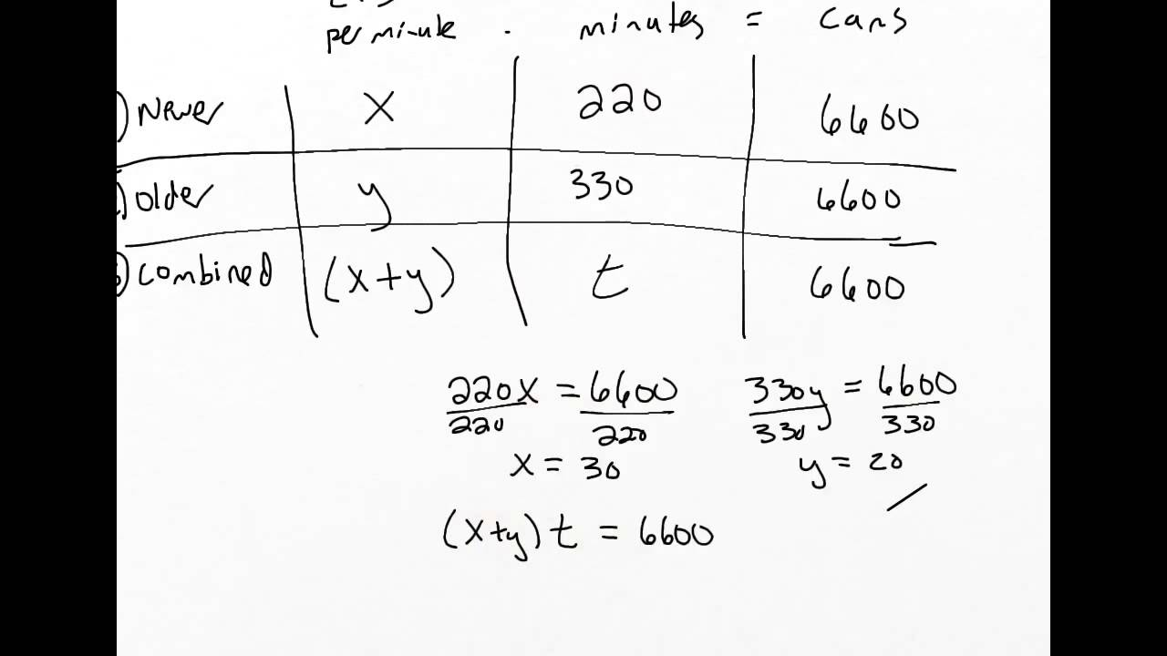 how to find multiple unknowns