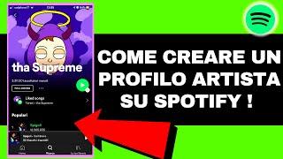 COME CREARE UN ACCOUNT / PROFILO ARTISTA SU SPOTIFY 🎹 E COME UTILIZZARE SPOTIFY FOR ARTIST (2020)