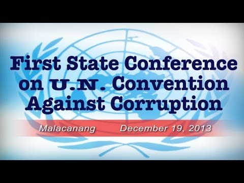 First State Conference on the United Nations Convention Against Corruption 12/19/2013