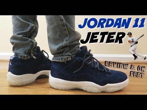 timeless design 4cb2e f104d (ARE THESE WORTH $200 RETAIL) JORDAN 11 LOW JETER REVIEW & ON FEET