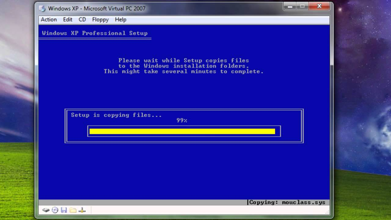 How to download and install Windows XP in Virtual PC HD ...