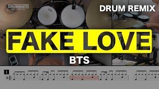 FAKE LOVE  -  BTS (방탄소년단)   K-POP DRUM COVER (REMIX)