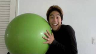 The Big Bouncing Inflatable Green Ball