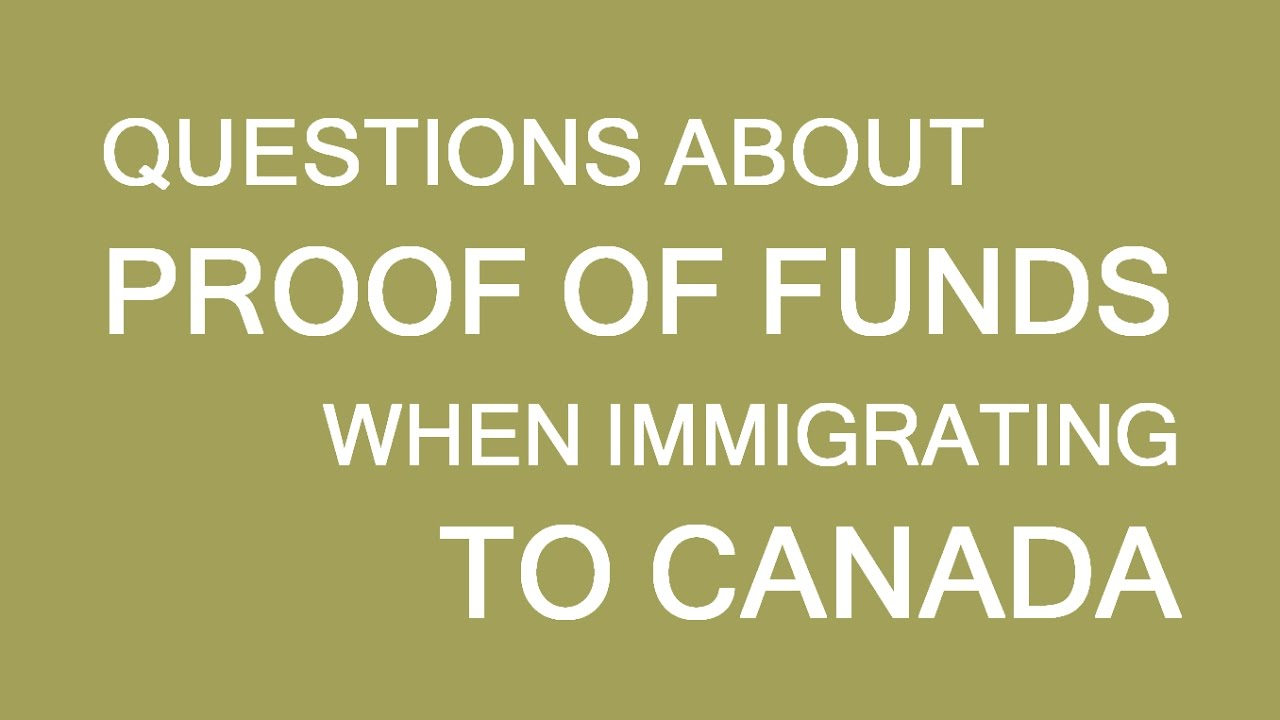 Proof of funds for immigrationvisa to canada answering questions proof of funds for immigrationvisa to canada answering questions lp group altavistaventures Gallery