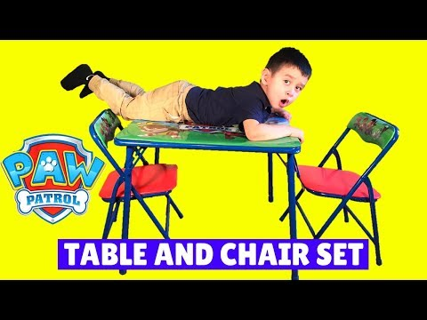 Paw Patrol Table And Chair Set From Toys R Us Review & Set Up